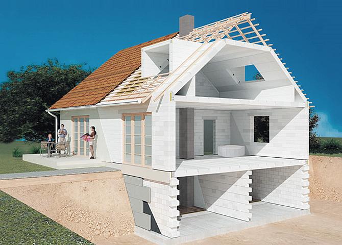 Процесс строительства дома из арболита под ключ